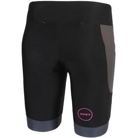 Zone3 Aquaflo Plus Shorts Women black/grey/neon pink
